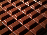 milk chocolate cubes